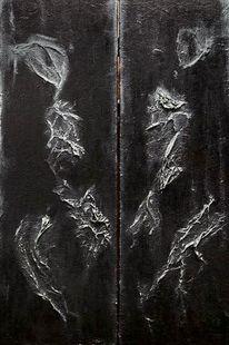 Dunkel, Schwarz, Abstrakt, Malerei