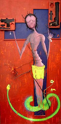 Acrylmalerei, Zukunft, Fantasie, Ölmalerei