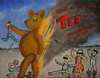 Kinder, Teddy, Tiere, Brennen