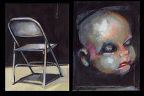 Malerei, Stuhl, Kopf