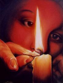Kerzen, Licht, Malerei, Figural