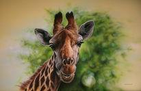 Giraffeafrika, Malerei, Figural, Giraffe