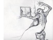 Zeichnung, Skizze, Haus, Bleitift