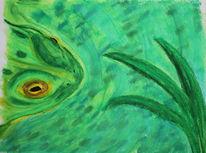 Frosch, Teich, Grün, Wasser