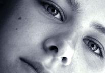 Schwarz weiß, Mädchen, Nahaufname, Fotografie