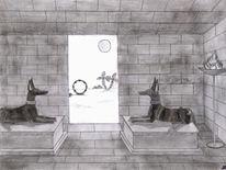 Bleistiftzeichnung, Ägypten, Malerei