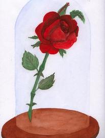 Rose, Aquarellmalerei, Malerei, Pflanzen