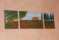 Ölmalerei, Italien, Toskana, Urlaub