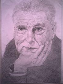 Alt, Mann, Zeichnungen, Portrait