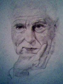 Mann, Alt, Zeichnungen, Menschen