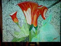 Malerei, Abstrakt, Calla,
