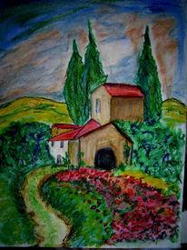 Skizze, Malerei, Toskana