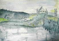 Burg, Malerei
