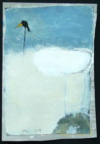 Malerei, Abstrakt, Rabe, Baden