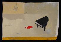 Malerei, Abstrakt, Abend, Spät
