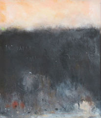 Schwarz, Wild, Nacht, Malerei
