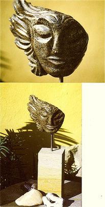 Kopf, Frau, Figural, Skulptur