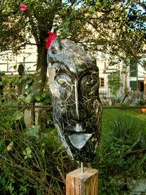 Skulptur, Teufel, Figural, Kopf