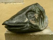 Figural, Skulptur, Stein, Tiere