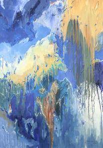 Malerei, Abstrakt, Silvester