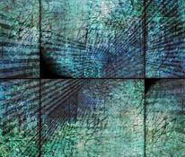 Blau, Geometrie, Fotografie, Mauer