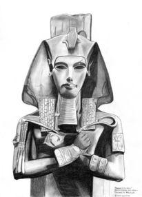 Statue, Portrait, Gesicht, Bleistiftzeichnung