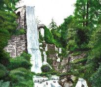 Wasser, Wald, Landschaft, Grafik