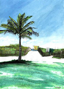 Pflanzen, Landschaft, Temperamalerei, Aquarellmalerei