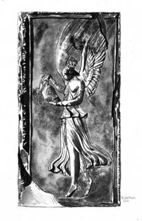 Engel, Weiblich, Grafik, Frau