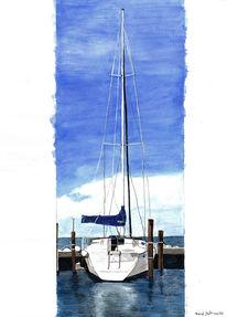 Schiff, Wasser, Grafik, Segelschiff