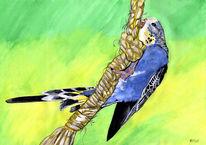 Blau, Vogel, Tiere, Grafik