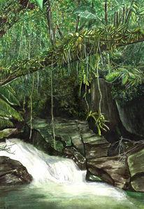 Baum, Wasser, Grün, Grafik