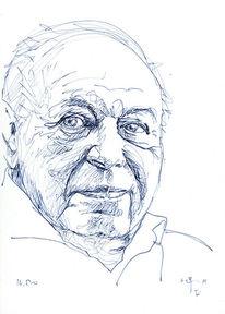 Coco schumann, Blau, Skizze, Portrait