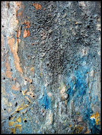 Rost, Blau, Action painting, Wässern