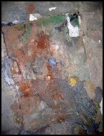 Action painting, Durchsicht, Grün, Spiegel
