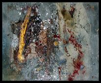 Action painting, Gold, Landschaft, Beton