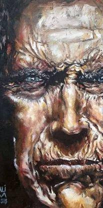 Portrait, Fleisch, Haut, Menschen