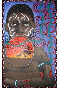 Voodo, Sahara, Malerei, Schwarz