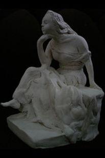 3d, Skulptur, Ton, Figural