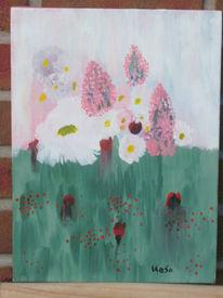 Landschaft, Sommerblumenwiese, Malerei