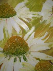Malerei, Sonnenhut, Gelb, Ölmalerei