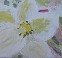 Christrose, Ölmalerei, Blumen, Garten