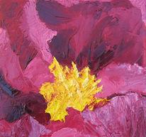 Blumen, Stauden, Blüte, Ölmalerei