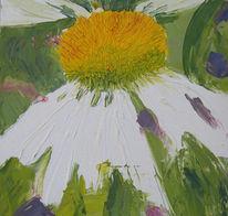 Ölmalerei, Blüte, Sonnenhut, Malerei