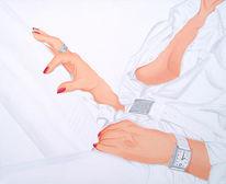 Ring, Glamour, Hände, Rot