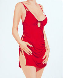 Kleid, Fotorealismus, Körper, Frau