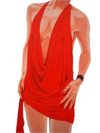 Kleid, Fotorealismus, Körper, Malerei