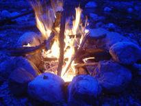 Fotografie, Feuer, Blau