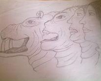 Flusspferd, Verwandlung, Mädchen, Zeichnung