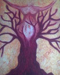 Zeichnung, Frau, Surreal, Wachsen